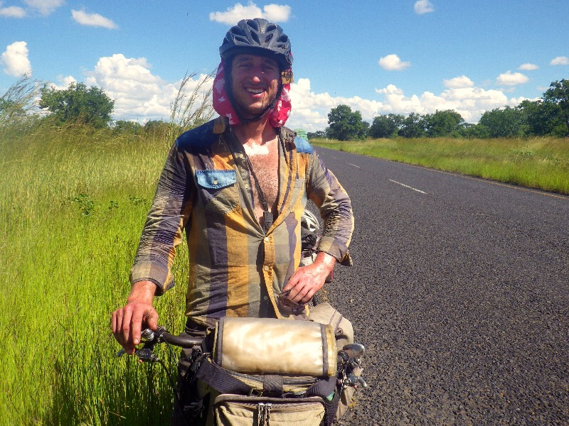 The fifth cyclist that we met in Botswana - Jacob, an american on his way north to Kilimanjaro.